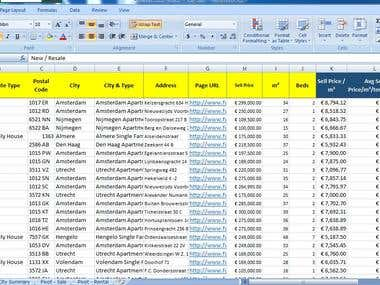 Web Scraping and Data Entry