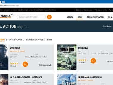 Zone-Mania, Movie website