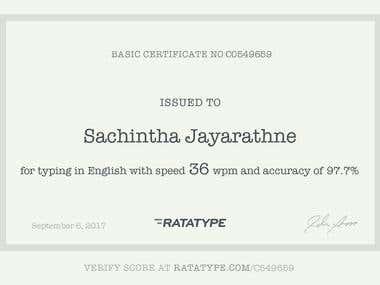 Ratatype Certificate