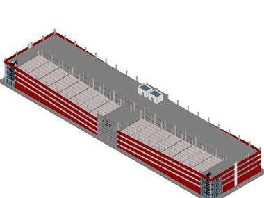 Multi level large parking structure