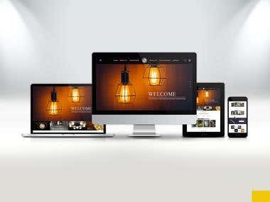 Responsive Website Mockup for Light House