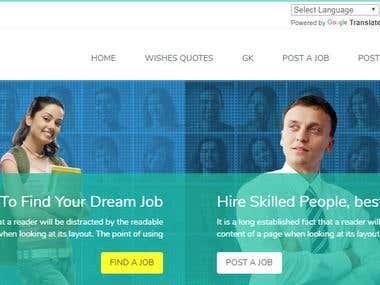 Website for Job Portal
