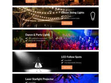 American Party Lights Website