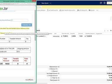 MYSalesTaxCalculation using TaxJar in CRM