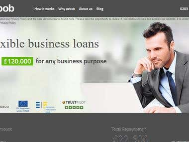 Website for business loans for our UK based client