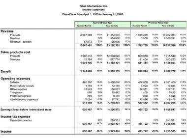 Financial Statements of the Company