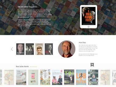 Website mock-up design for online book selling company