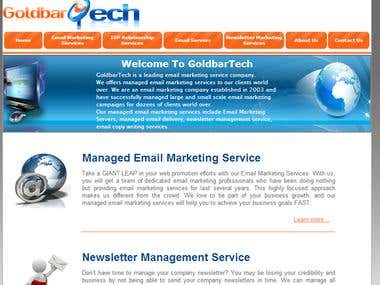 GoldbarTech Website deisgn