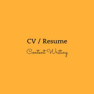 CV / Resume / Letters
