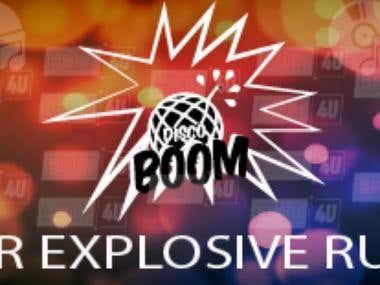 Banner disco Boom