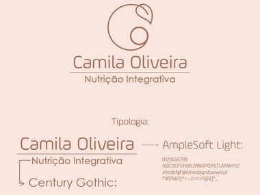 Design de Marca: Camila Oliveira - Nutrição Integrativa