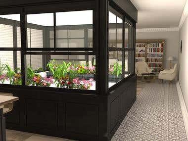 LUMINOUS APARTMENT. Living room & kitchen