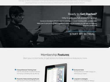 Website - Landing Page/Membership Site