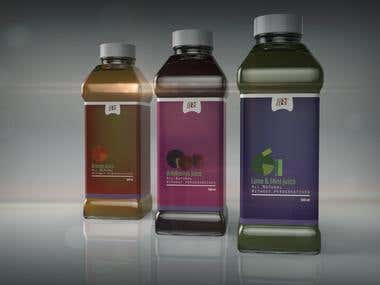 Organic and natural juice packaging