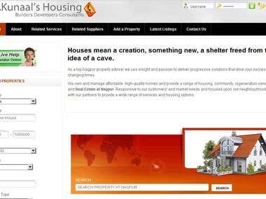 Web Portal to find Real Estate Property Listings