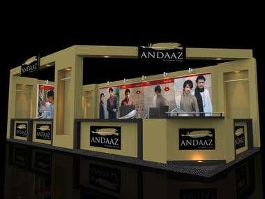 3D Model of Stall for Branding