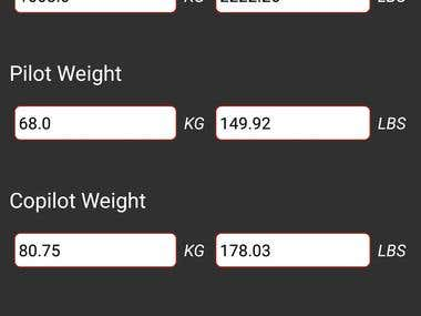 Helicopter Load Margin Calculator - Android Application