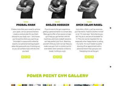 Power Point Gym Website