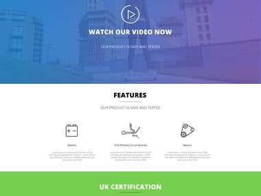 Website mock-up design for self scooter