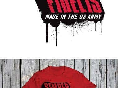 Military Tee shirt designs