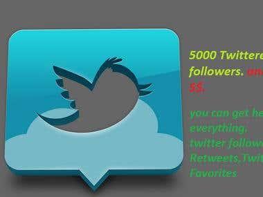 twitter followers,Twitter Retweets,Twitter Favorites