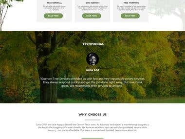 Website mockup design for tree service company in USA.