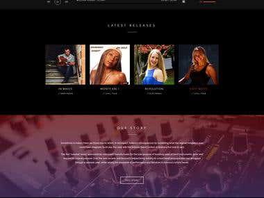 Website mock-up design for banner ads records