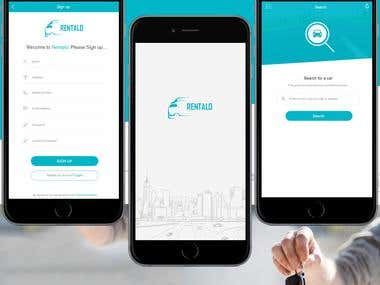 On-demand Car Renting App