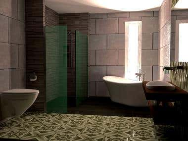 Vintage apartment. Kitchen + bathroom