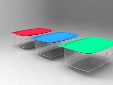 Plastic frigo dish