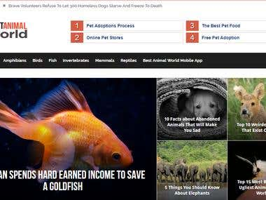 Articles for Animals website
