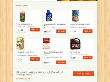 Grocery Store Website