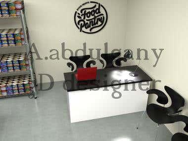 3D interior design food bank