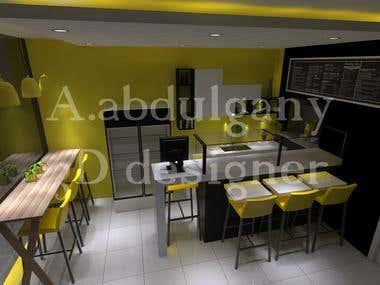 3 D interior design for a shop
