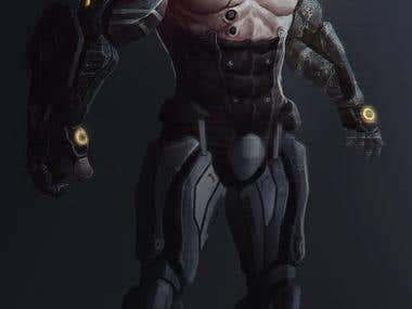 Sci-FI Chacarter Cyborg