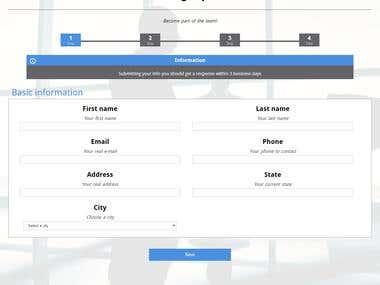 Signup/Menagement application