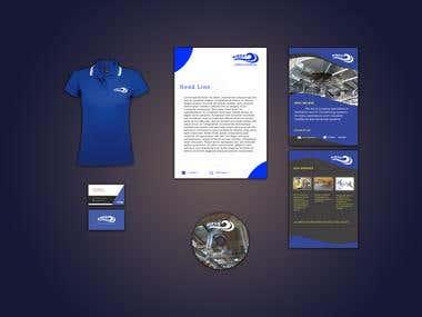 Airco company stationery design
