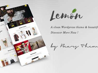 Create Lemon Shop - WordPress theme on themeforest.net