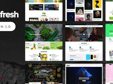 Create GreenFresh - WordPress theme on themeforest.net