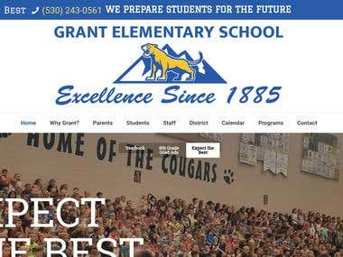 GrantSchoolCougars.com Web Design