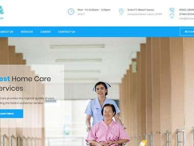 Care Giver Services Company Website