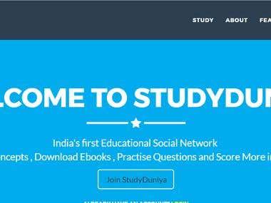 """Studyduniya.com"" Educational Social Networking Website"