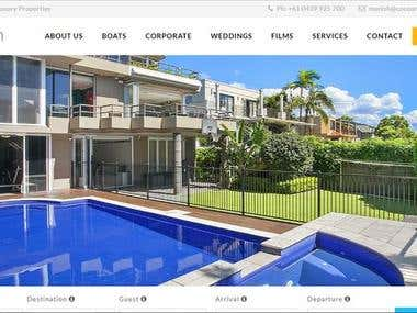 Cocoon Luxury property Website