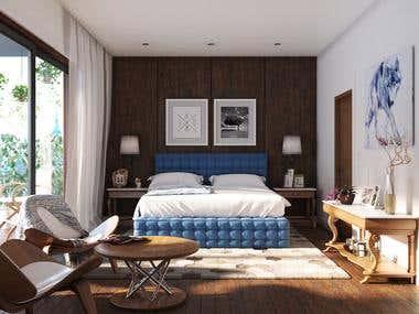 CozyBedroom - Interior Render
