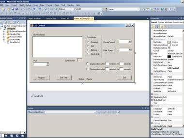 LED dot matrix control software