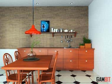 VINTAGE 3D KITCHEN