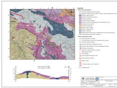 Geological and hydrogeological maps (in Serbian)