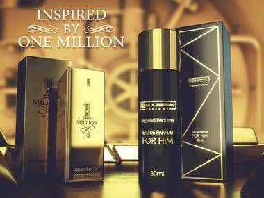 Perfume Product 3D Renders