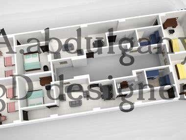 home interior 3D design