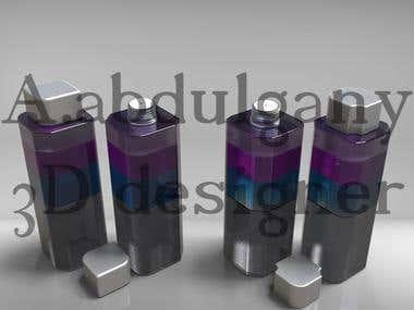 3D makeup remover bottle design